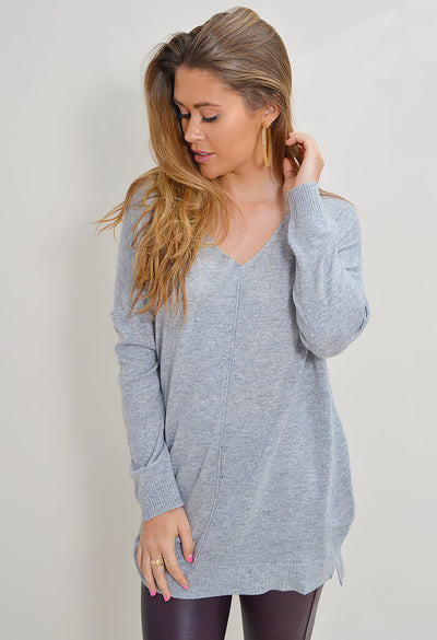 Feather Sweater - Grey