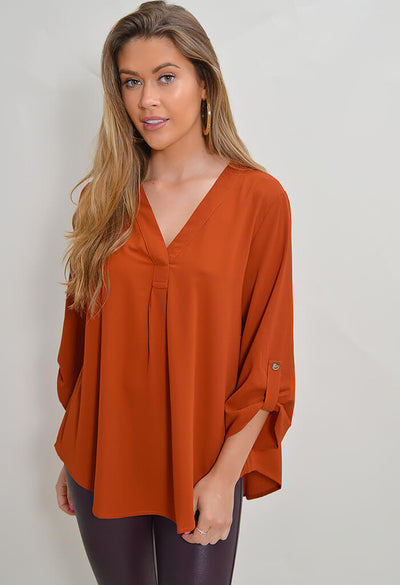 Kathryn Blouse - Rust