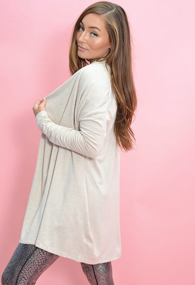 KK Bloom Boutique Plush Neutral Cardigan-side