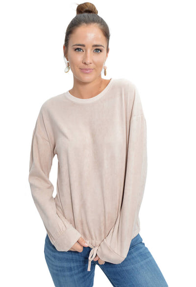 Minkpink Suede Sweater Dusty Pink-front