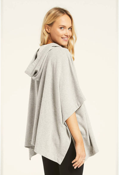 Z Supply Canyon Poncho in Heather Grey-side