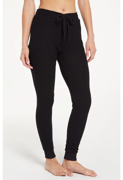 Z Supply Marled Jogger Pant in Black-side