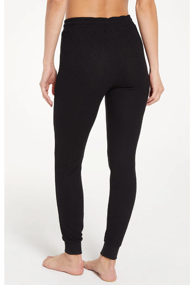 Z Supply Marled Jogger Pant in Black-back