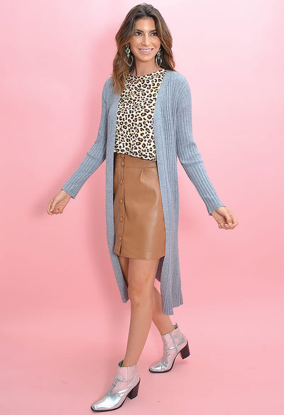 Cupcakes and Cashmere Paloma Duster in Heather Grey-side