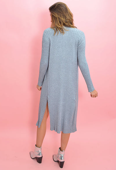 Cupcakes and Cashmere Paloma Duster in Heather Grey-back