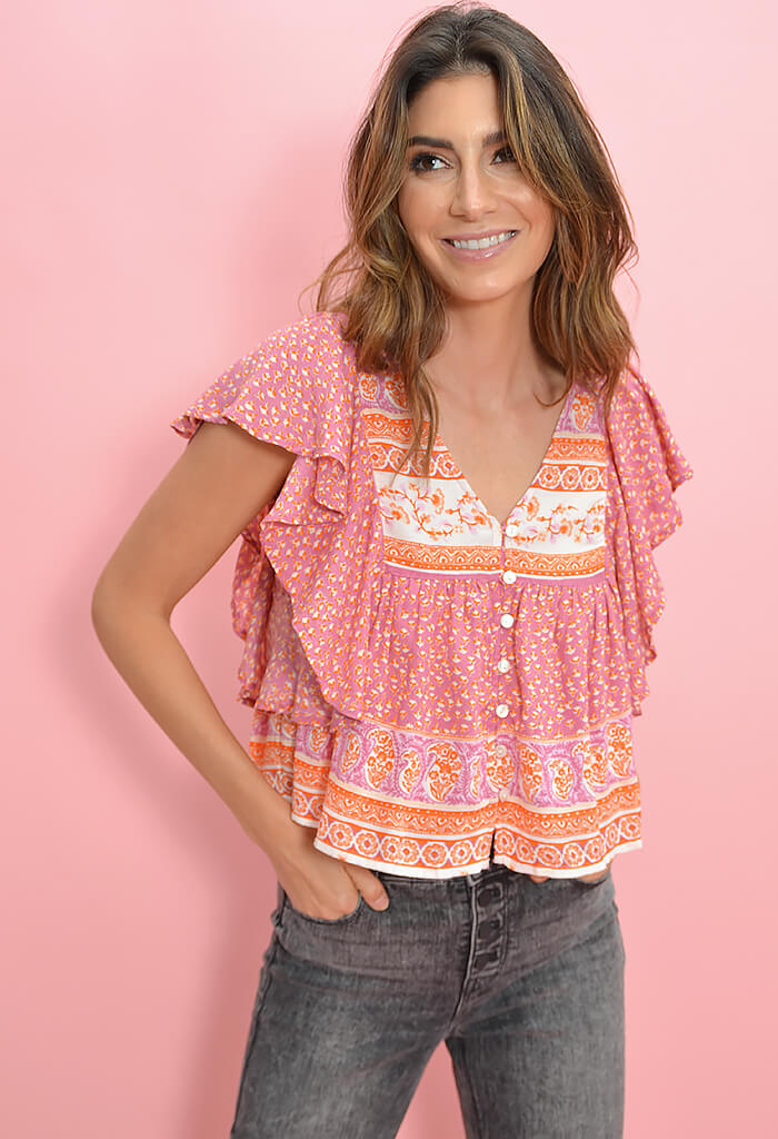 Patrons of Peace Tea Rose Blouse-front