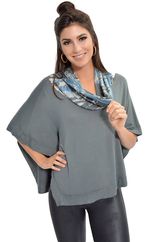 Perfect Poncho - Misty Earth