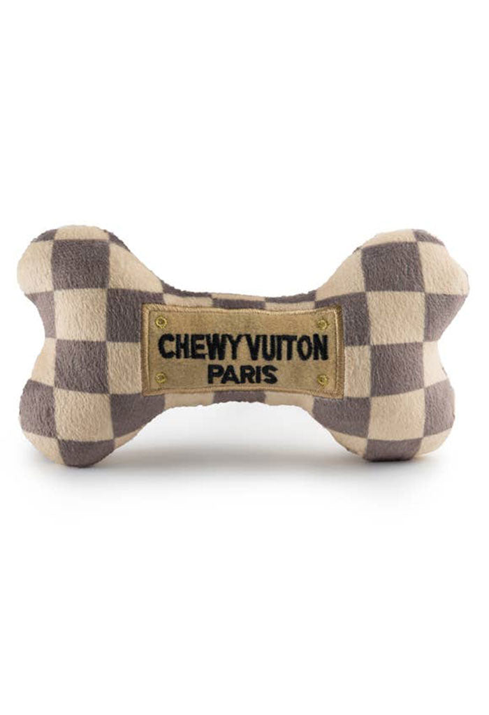 Checker Chewy Vuiton Bone-Large