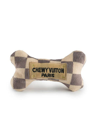 Checker Chewy Vuiton Bone-Small