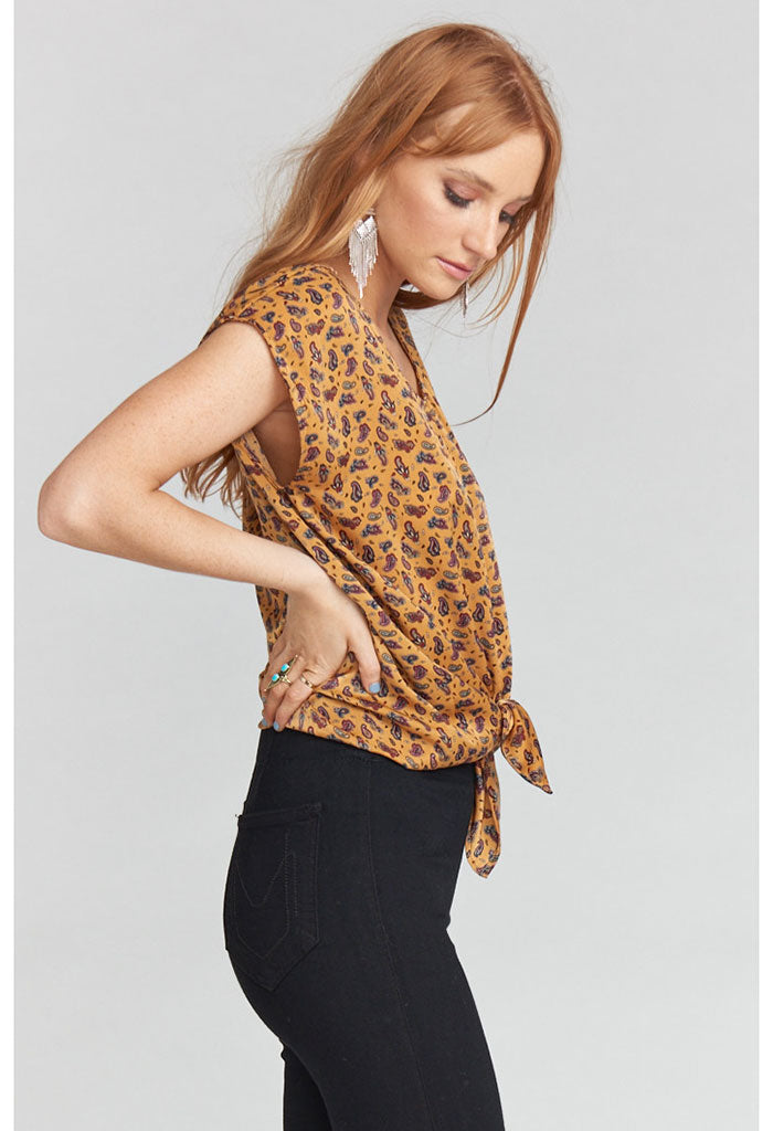 Katrina Top ~ Wild West Paisley Sheen