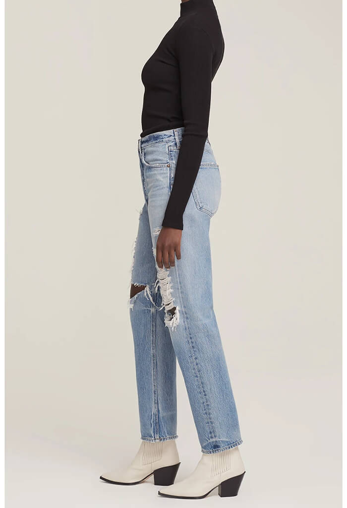 Agolde 90's loose fit denim in Major-front