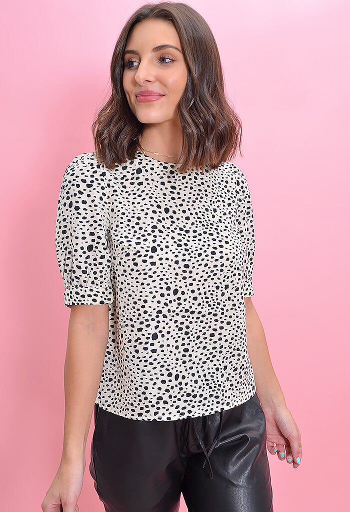 BB Dakota Spot Off the Press Blouse-front