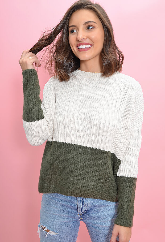 BB Dakota New Knit on the Block Sweater-front