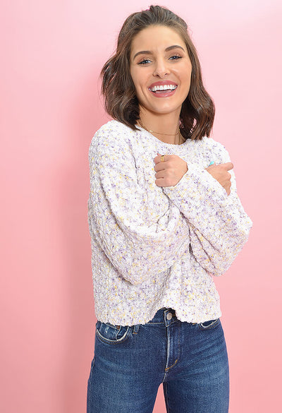 BB Dakota Outlook Hazy Sweater in Ivory-front