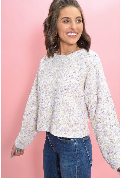 BB Dakota Outlook Hazy Sweater in Ivory-side