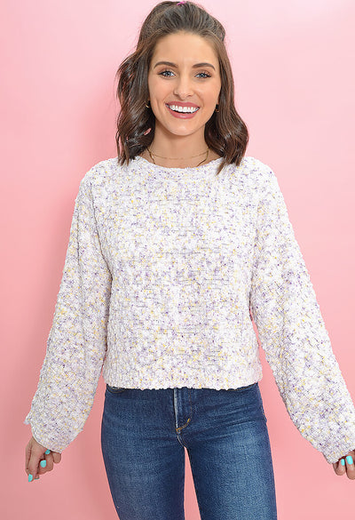 BB Dakota Outlook Hazy Sweater in Ivory-front 2