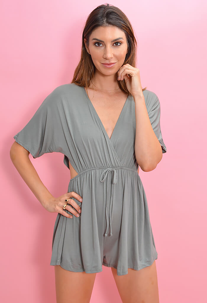 Slice of Life Romper - Olive