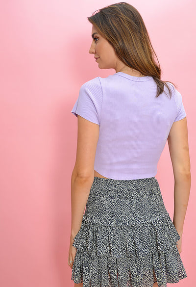 KK Bloom Boutique Lilac Ribbed Tee-back