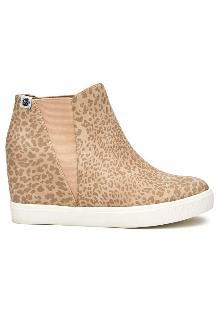 Matisse Lure Wedged Sneaker in Taupe Leopard-side