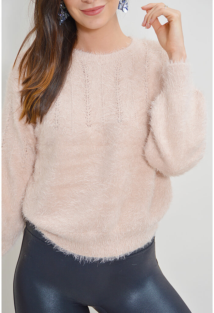 Love Me Not Sweater - Blush
