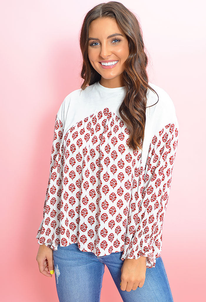 Stop and Smell the Roses Blouse