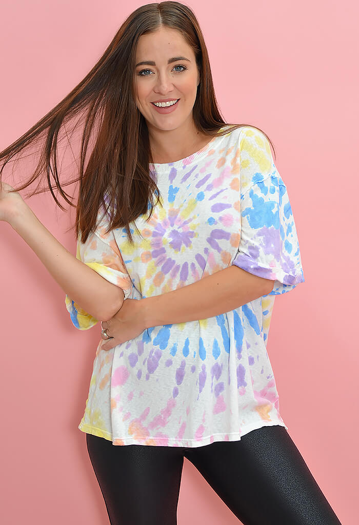 KK Bloom Boutique Pastel Tie Dye T-Shirt-front