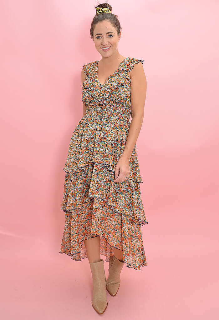 Fleetwood Floral Chiffon Dress