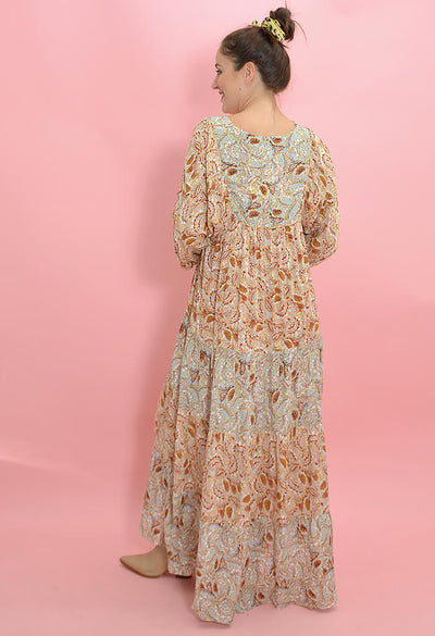KK Bloom Boutique Floral Print Ophelia Maxi Dress-back