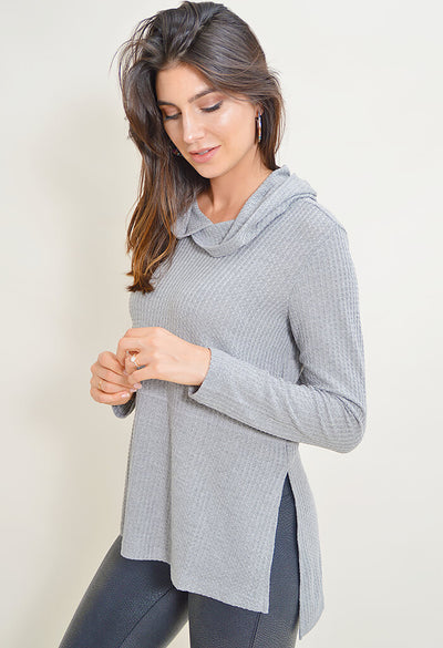 Best Intentions Top - Heather Grey