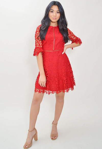 In The Moment Dress - Red