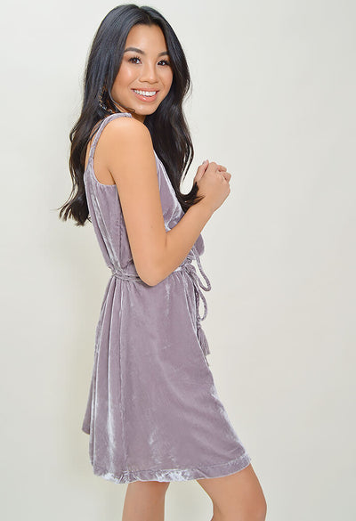 Lenny Velvet Wrap Dress