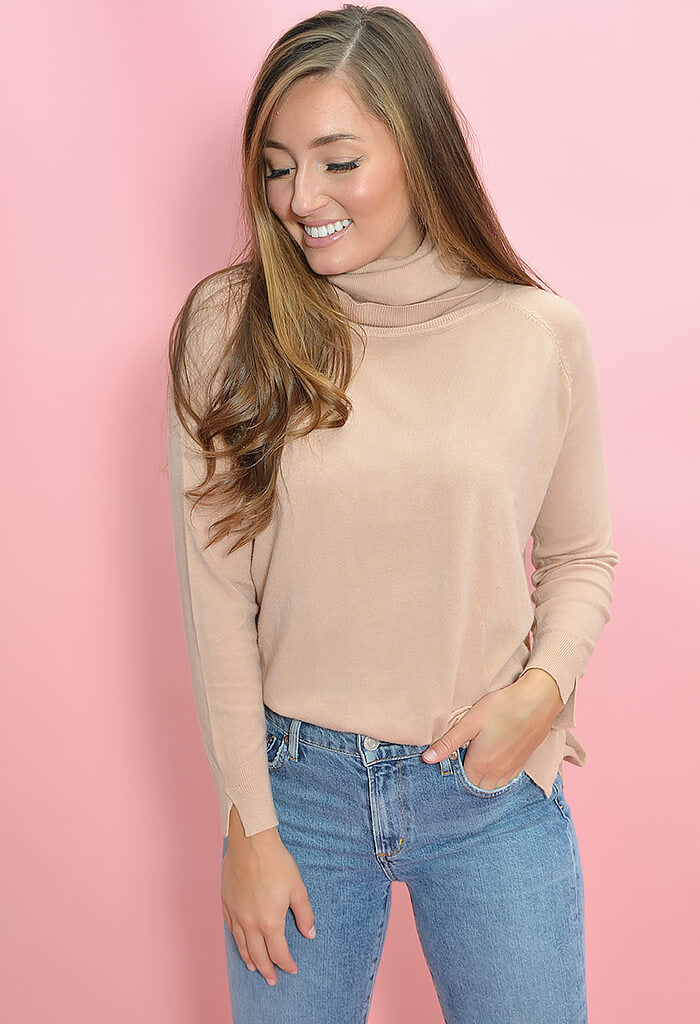 KK Bloom Boutique Valence Sweater in Beige-front