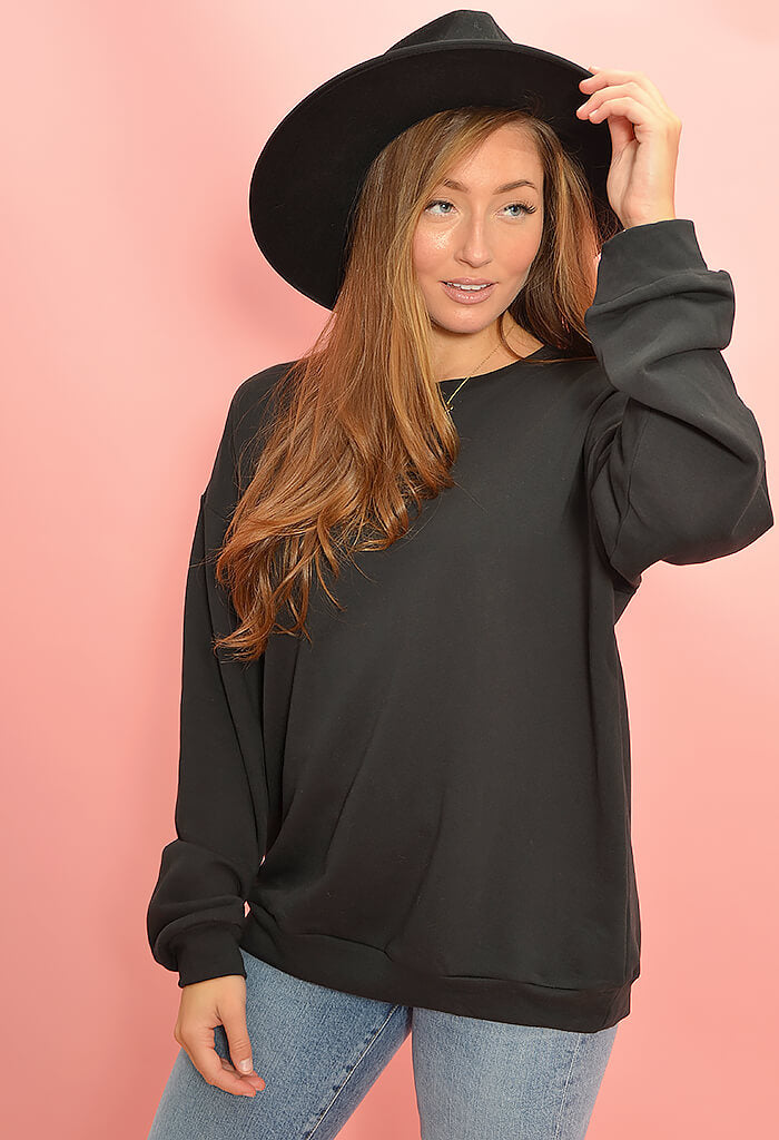 KK Bloom Boutique Black Binx Pullover Sweatshirt-front