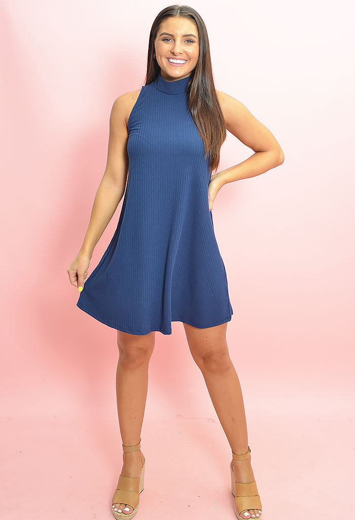 Karima Mock Neck Dress
