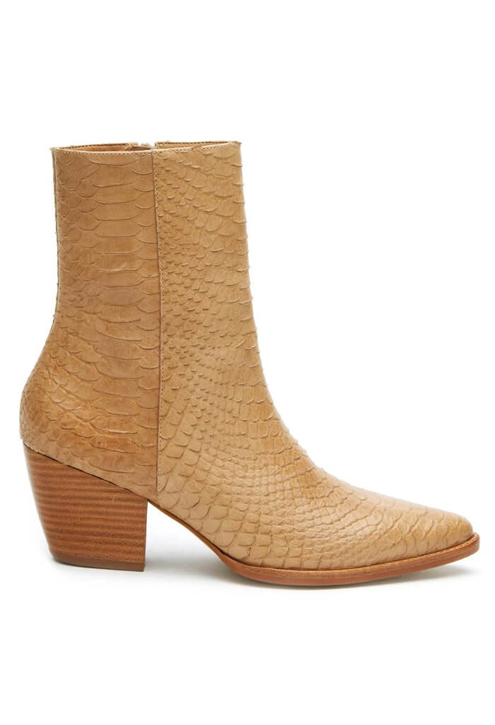 Matiise Caty Tan Snake Boot-side
