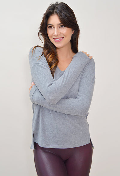 Katelin Sweater - Heather Grey