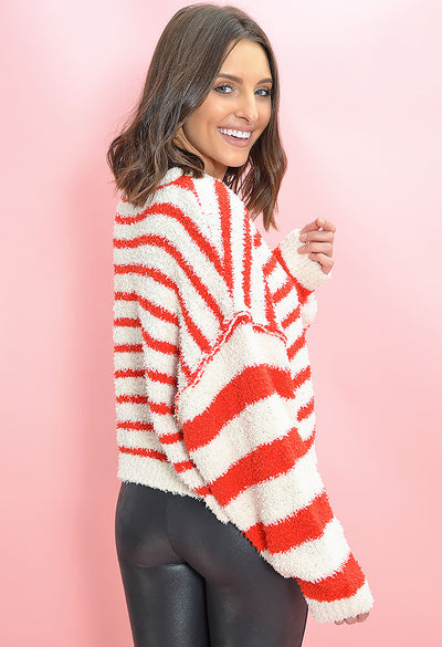 KK Bloom Boutique Candy Cane Sweater-side