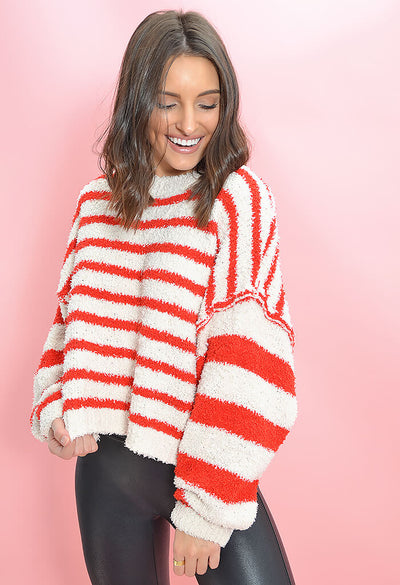 KK Bloom Boutique Candy Cane Sweater-front