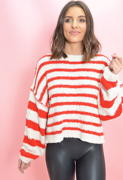 KK Bloom Boutique Candy Cane Sweater-zoom