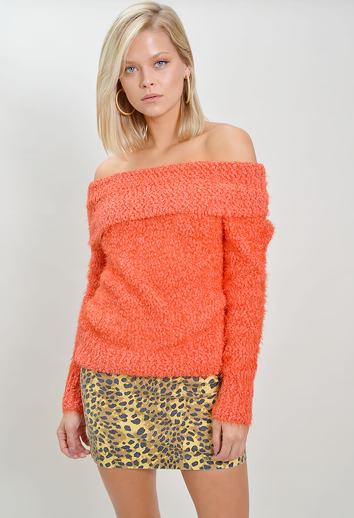 Teacup Off Shoulder Jumper