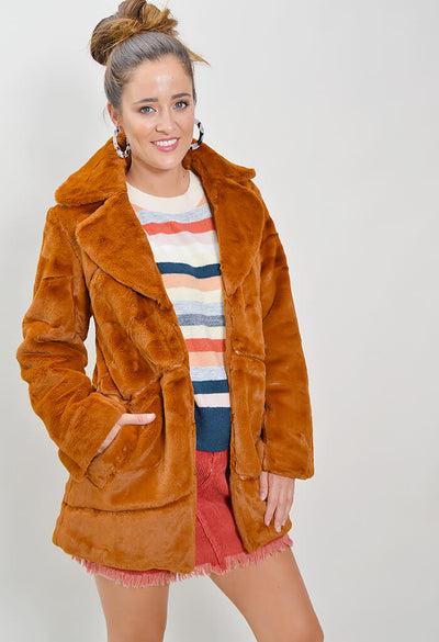 Pumpkin Spice Fur Coat