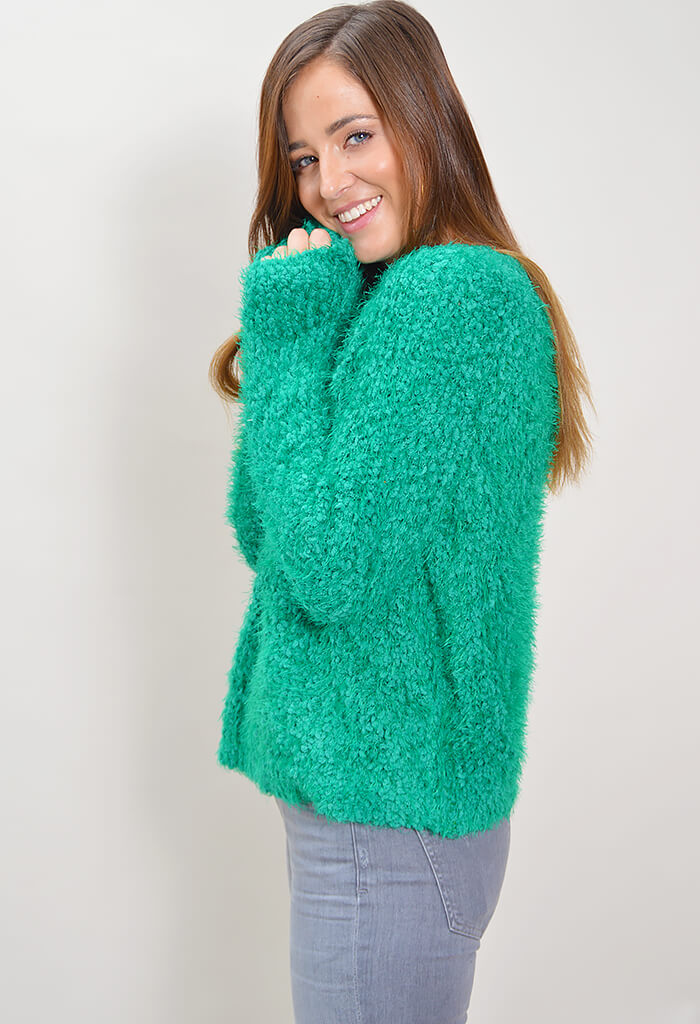 Knit Fluffy Raglan Sweater