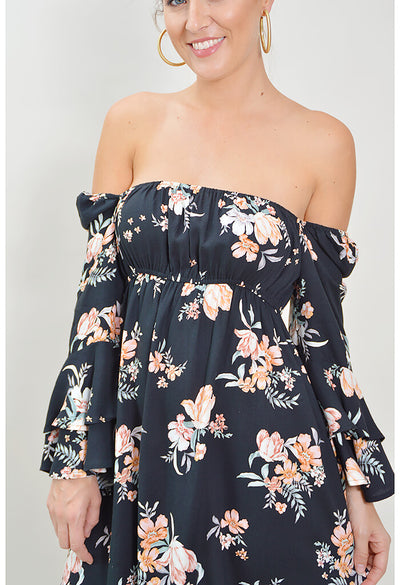 Hypnotic Blooms Mini Dress