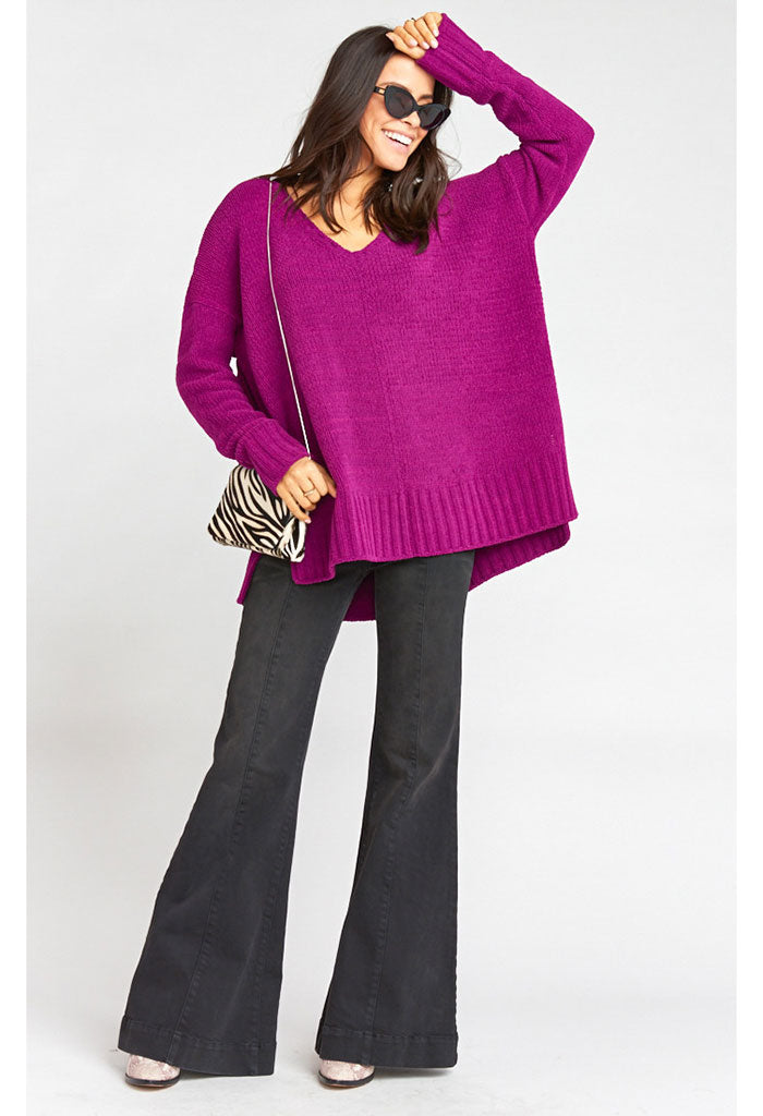 Hug Me Sweater ~ Ultraviolet Knit