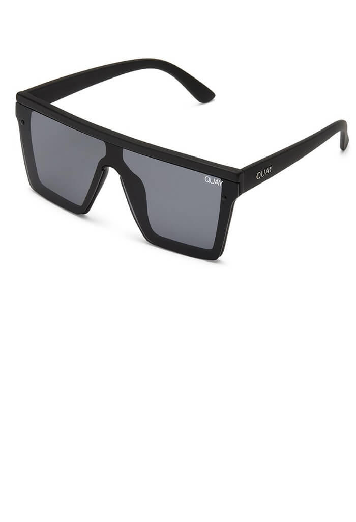 Hindsight Sunglasses-Black/Smoke Lens