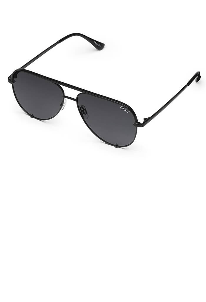 High Key Sunglasses-Black/Smoke Lens