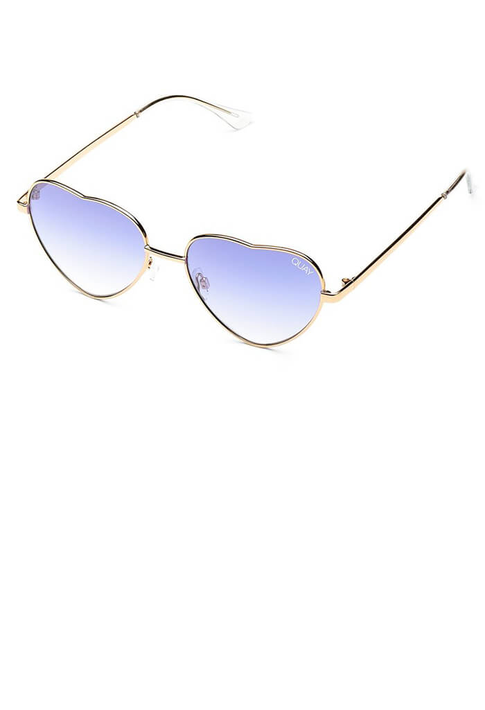 Kim Sunglasses-Gold/Blue Fade Lens