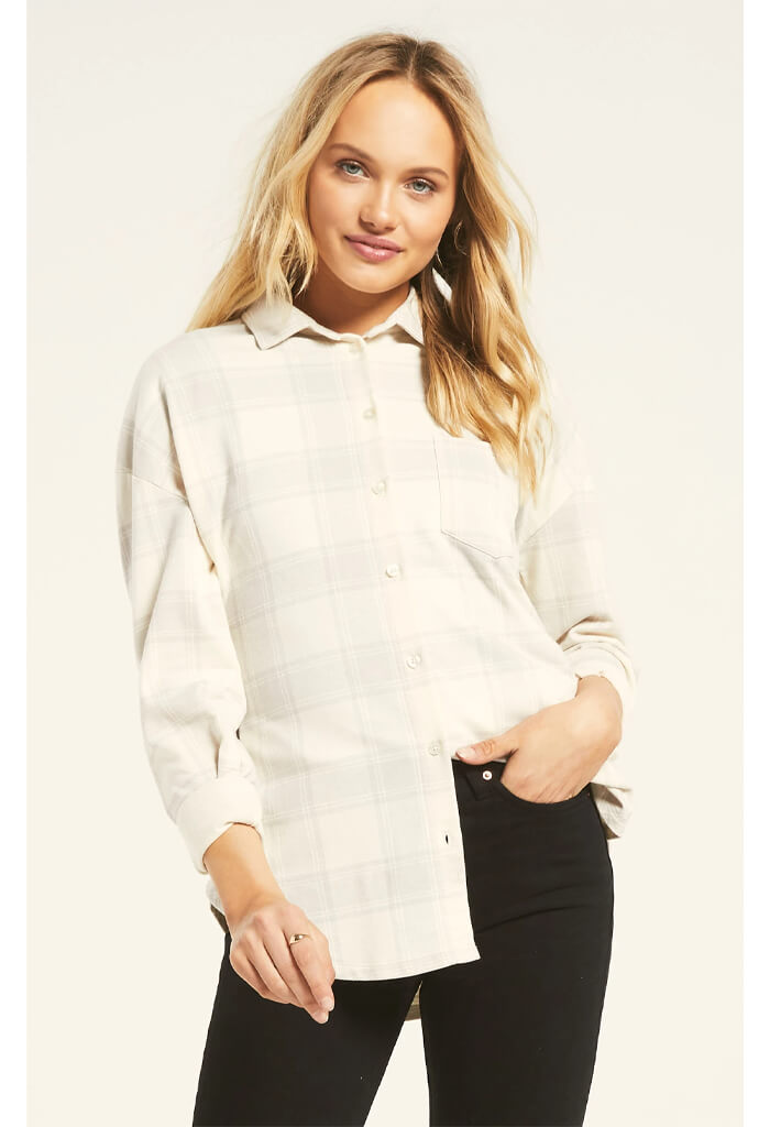 Z Supply Ada Plaid Shirt-front