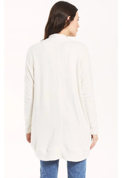 Z Supply Kaye Feather Cardigan in Bone-back