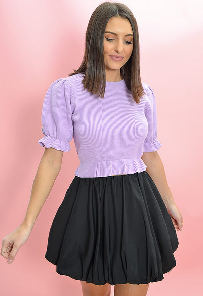 Minkpink Fabienne Mini Skirt in Black-front